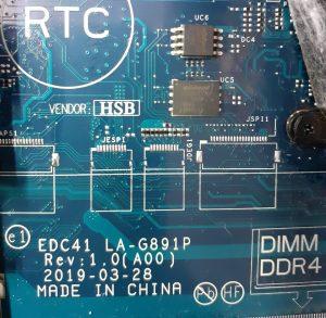 EDC41 LA-G891P Motherboard